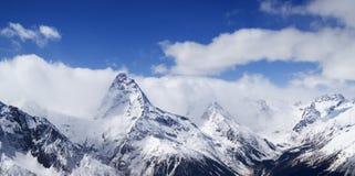 Panorama Caucasus Mountains Royalty Free Stock Photo