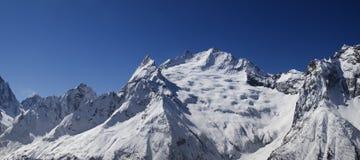 Panorama Caucasus Mountains Royalty Free Stock Photos