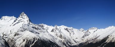 Panorama Caucasus Mountains Stock Photography