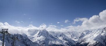 Panorama Caucasus Mountains Stock Image