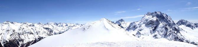 Panorama Caucasus Mountains Royalty Free Stock Image