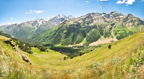Panorama of the Caucasus Mountains. Elbrus area Stock Photos