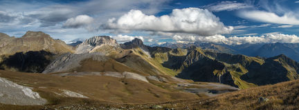 Panorama of Caucasus mountains. Royalty Free Stock Image