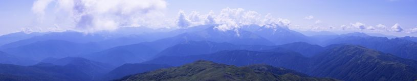 Panorama Caucasus Mountains, with slopes Oshten Stock Photo