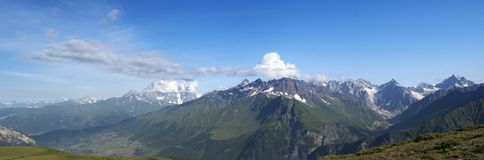 Panorama Caucasus Mountains in summer. Georgia Stock Photography