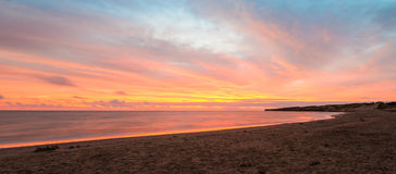 Panorama of Cavendish beach at the crack of dawn Stock Photography