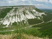 Panorama of the caves, Chufut-Kale,. Crimea, Ukraine royalty free stock photos