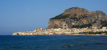 Panorama cefalu - sicily Stock Photography