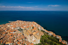 Panorama of Cefalu Stock Images