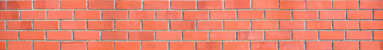 panorama ceglana ściana Obraz Royalty Free