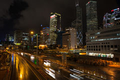 Panorama of central district of Hong Kong Stock Photo