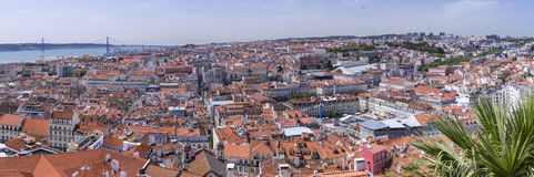Panorama of central Lisbon, Portugal royalty free stock images