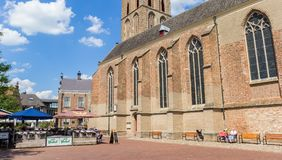 Panorama of the central market square in Lochem Royalty Free Stock Photography