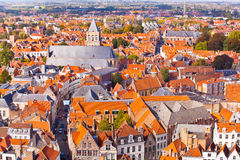 Panorama of the central part of Bruges Stock Photos