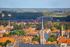 Panorama of the central part of Bruges Royalty Free Stock Photography