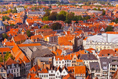 Panorama of the central part of Bruges Stock Images