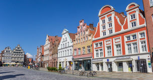 Panorama of the central square of Luneburg Royalty Free Stock Photo