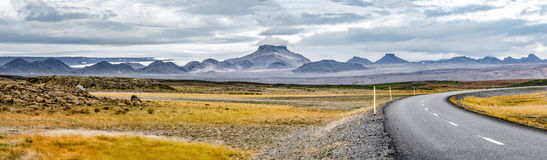 Panorama of the central volcanic highlands of Iceland Royalty Free Stock Photo