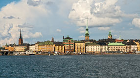 Panorama of the centre of Stockholm Royalty Free Stock Image