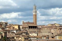 Panorama centro Siena Lizenzfreie Stockfotos