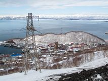 Panorama centrum miasta petropavlovsk od Obraz Royalty Free