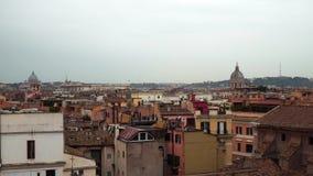 Panorama cerca del jardín anaranjado, Roma, Italia del día de invierno almacen de video