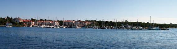 Panorama of Cervar Porat town. Panoramic Cervar Porat adriatic town in Croatia, Istria region. Popular touristic destination Stock Images