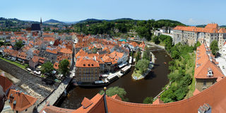 Panorama of Cesky Krumlov Royalty Free Stock Image