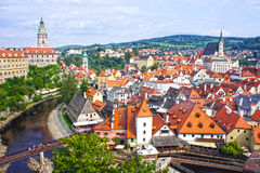Panorama of Cesky Krumlov.Czech republic. UNESCO World Heritage Stock Image