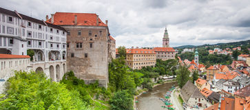 Panorama of Cesky Krumlov, Czech Republic. UNESCO Royalty Free Stock Photos