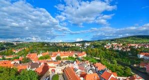 Panorama of Cesky Krumlov Stock Photo