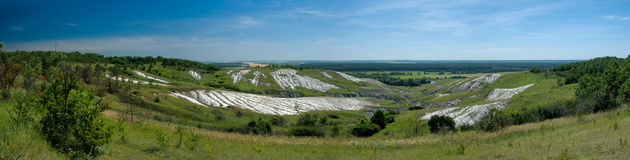 Panorama of a chalk cliff Royalty Free Stock Images