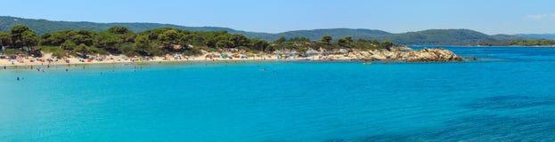 Panorama Chalkidiki, Grecia della costa di mar Egeo Immagini Stock