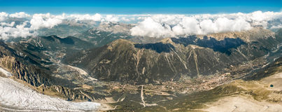 Panorama of Chamonix, France Royalty Free Stock Image
