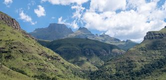 Champagne Valley near Winterton, forming part of the central Drakensberg mountain range, Kwazulu Natal, South Africa. stock photography