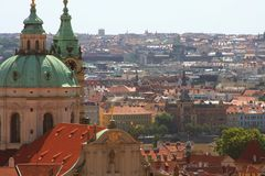 Panorama of Charles bridge, Prague Royalty Free Stock Photos