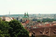 Panorama of Charles bridge, Prague Royalty Free Stock Photography