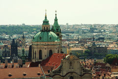Panorama of Charles bridge, View From Castle Stock Photos