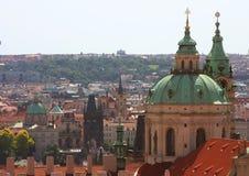 Panorama of Charles bridge, View From Castle, Prague Stock Photo
