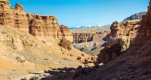 Panorama of Charyn Canyon Stock Photo