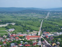 Panorama of Checiny, Poland Royalty Free Stock Images