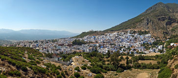 Panorama of Chefchaouen Stock Image