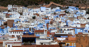 Panorama of Chefchaouen Medina in Morocco, Africa Royalty Free Stock Image
