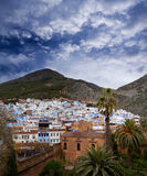 Panorama of Chefchaouen Medina in Morocco, Africa Stock Images
