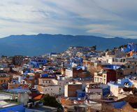 Panorama of Chefchaouen Medina in Morocco, Africa Royalty Free Stock Photos