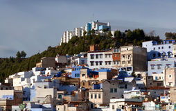 Panorama of Chefchaouen Medina in Morocco, Africa Royalty Free Stock Images