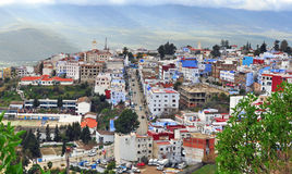Panorama of Chefchaouen, Morocco Royalty Free Stock Photography