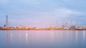 Panorama chemistry factory river front Stock Photos