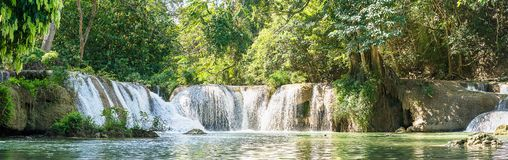 Panorama Chet Sao Noi Waterfall In National Park Royalty Free Stock Photography