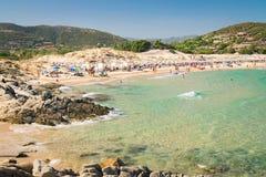 Panorama of Chia coast, Sardinia, Italy. Stock Images